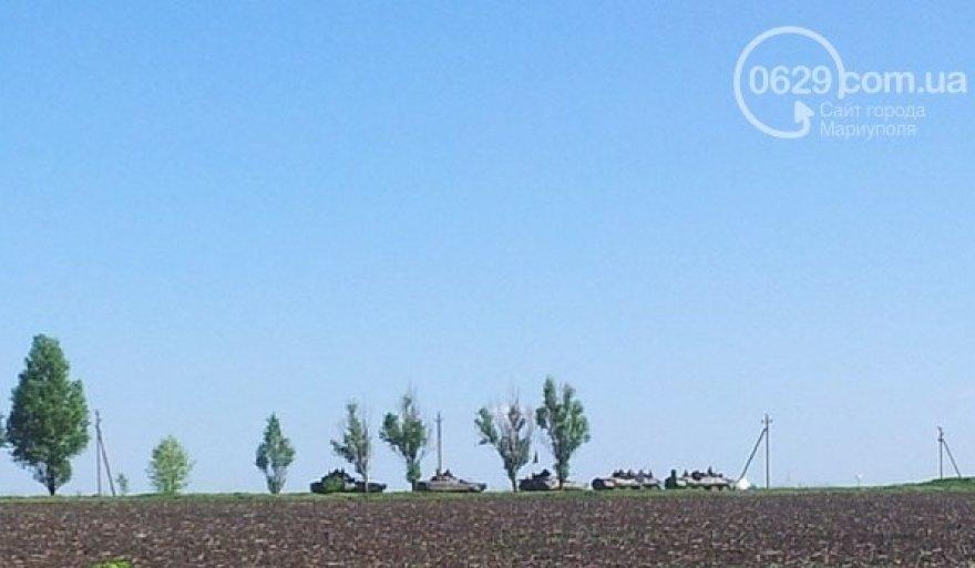 Trečiadienį pastebėti į Mariupolį įvažiuojantys tankai