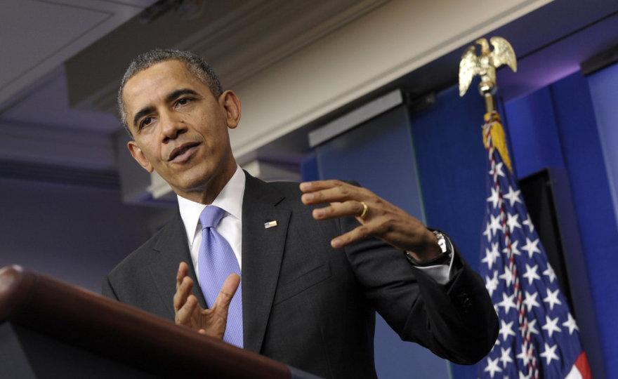 USA riigipea Barack Obama tänasel pressikonverentsil.