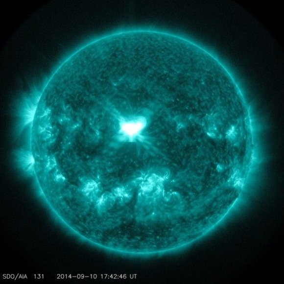 X kategorijos Saulės žybsnis, įvykęs rugsėjo 10 d.