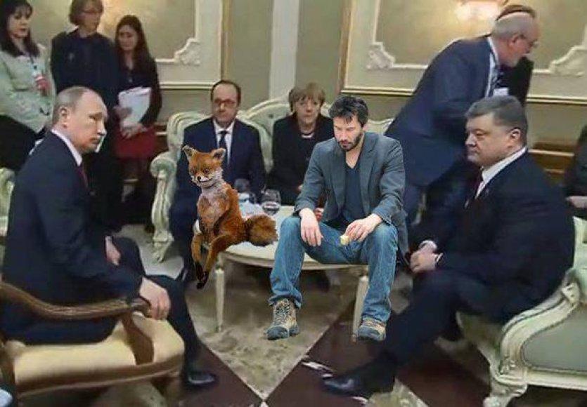 Juokeliai apie susitikimą Minske