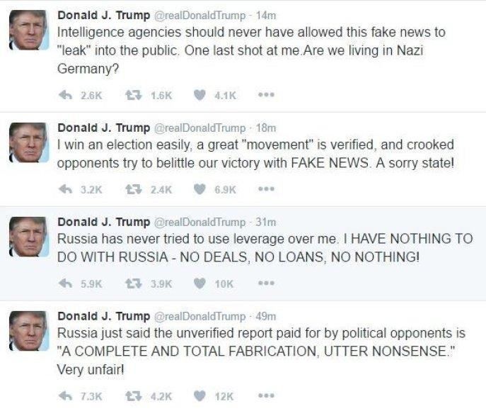 Donaldo Trumpo siautėjimas socialiniuose tinkluose