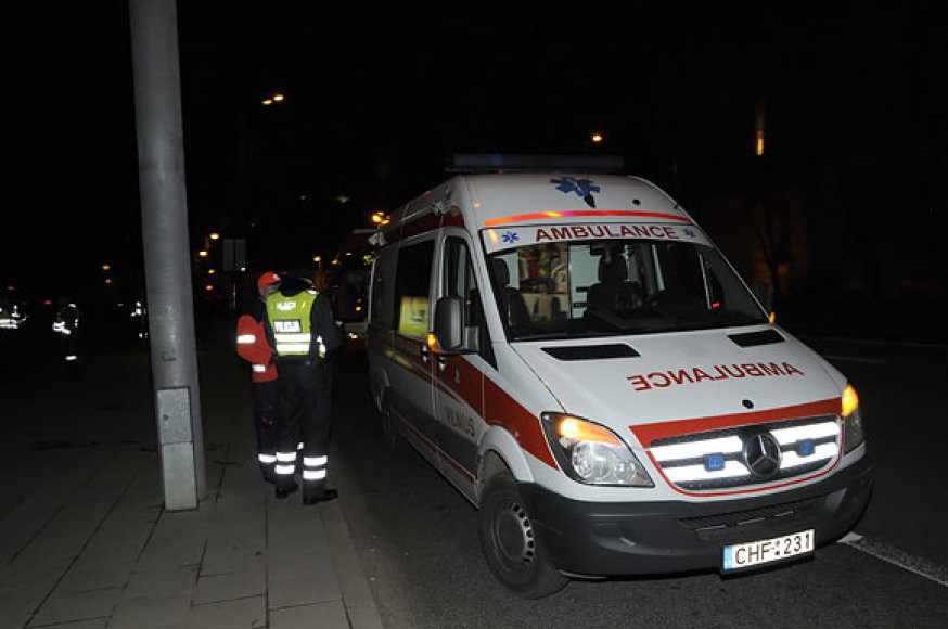 Greitoji pagalba ir policija įvykio vietoje