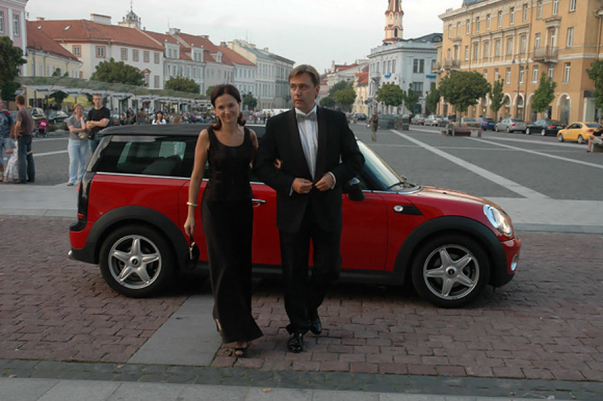 Edminas Bagdonas su žmona
