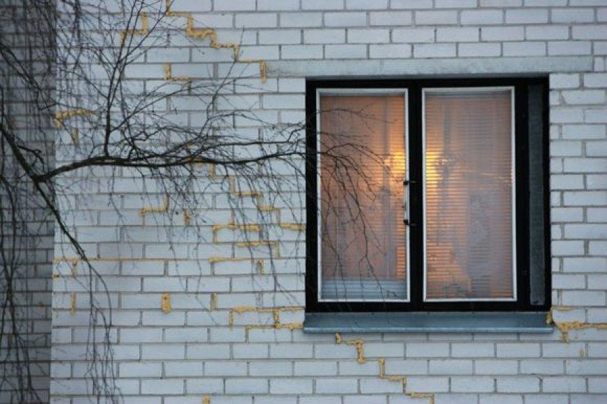 Dėl gilyn smingančių namo pamatų sutrūkinėjo pastato sienos, deformavosi daugiabutyje išvedžiotas dujų vamzdynas.