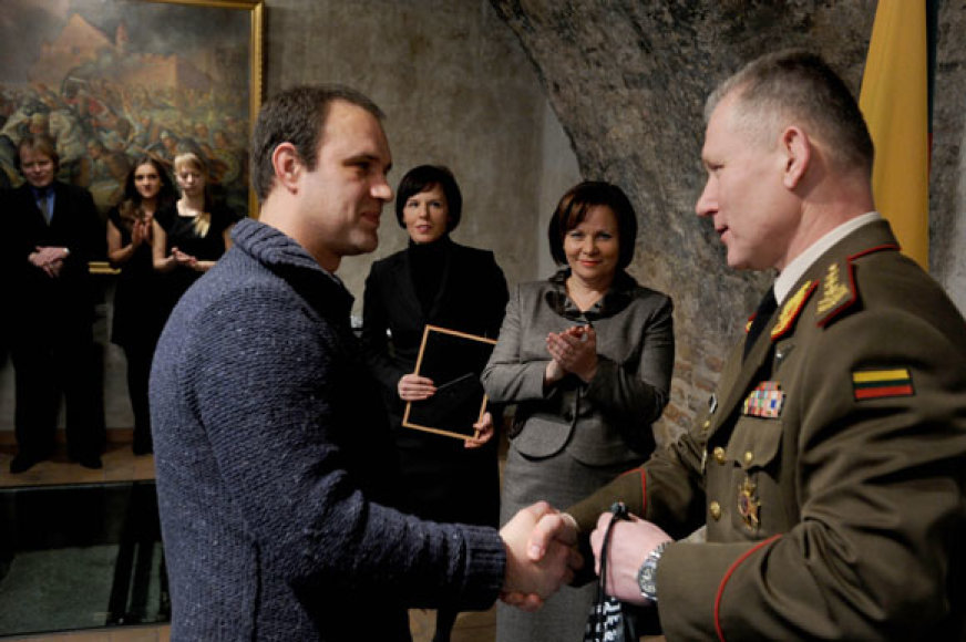 """Apdovanojamas """"15min.lt"""" žurnalistas Andrius Vaitkevičius"""