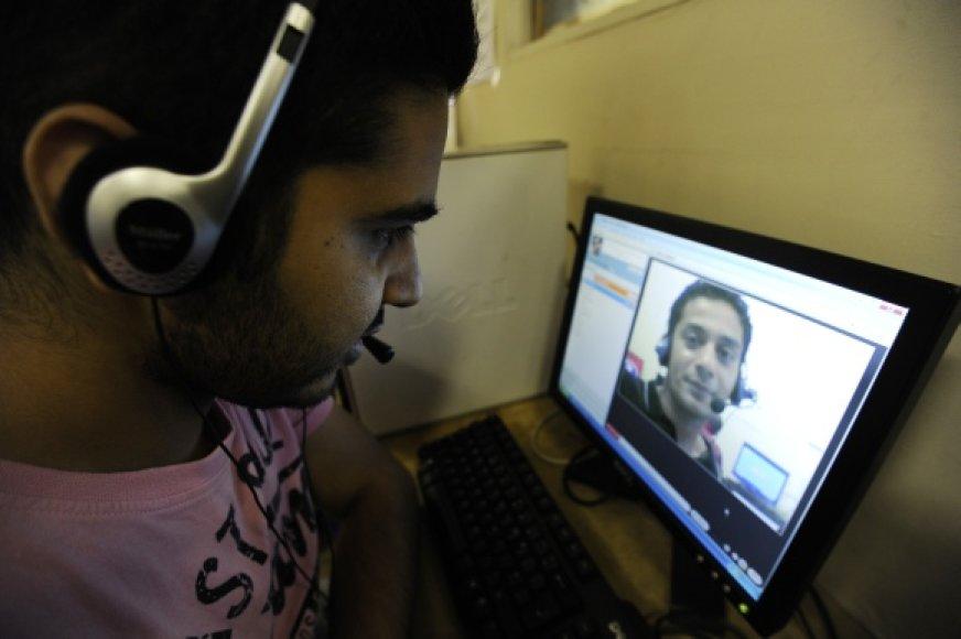 """""""Skype"""" vaizdo pokalbis"""