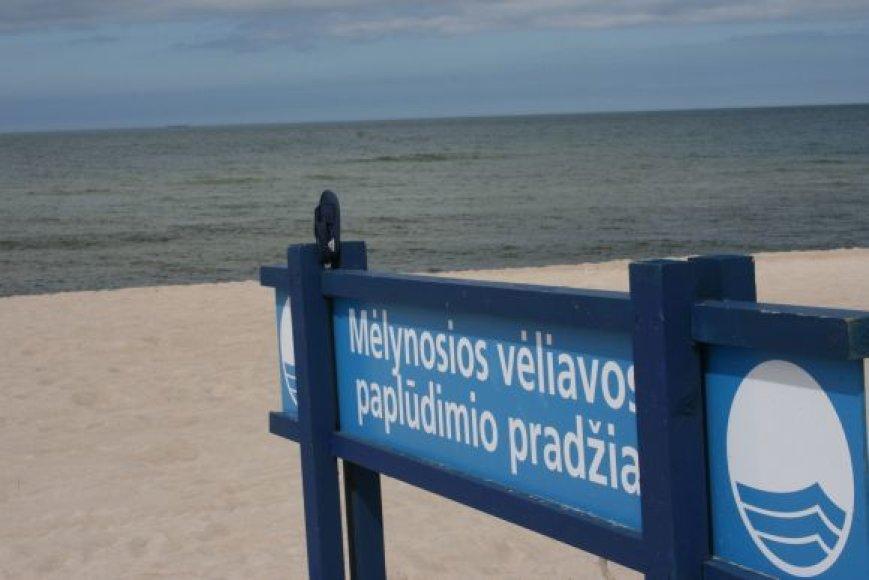 Mėlynosios vėliavos paplūdimys.