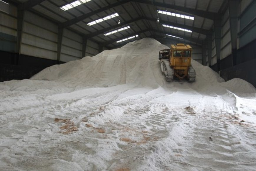 Kelininkai žada, kad šiemet druskos Vilniaus gatvėms nepritrūks – apie pusė žiemos normos jau yra sandėliuose.