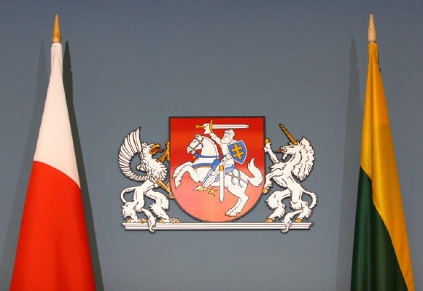 Lenkijos ir Lietuvos vėliavos