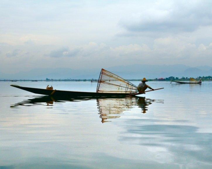 Žvejys Birmoje.
