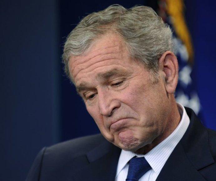 Bushas per paskutinę savo konferenciją