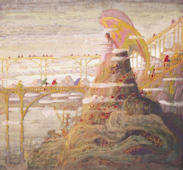 """M.K.Čiulrionis """"Angelas"""", 1909 m."""