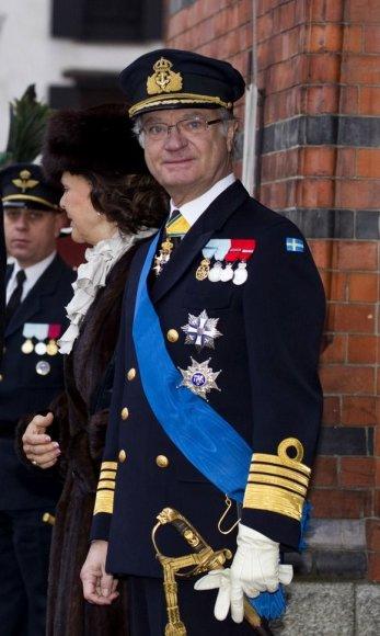 Švedijos karalius Karlas Gustavas XVI