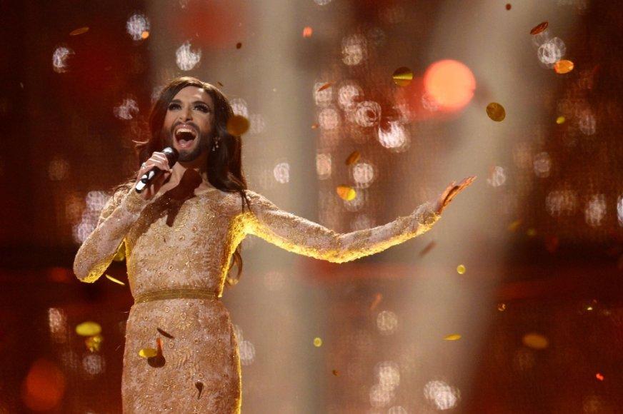 """""""Eurovizijos"""" nugalėtoja Conchita Wurst iš Austrijos"""