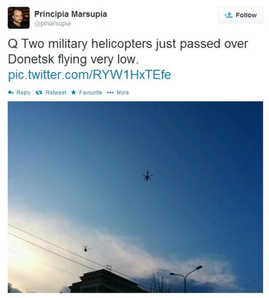 Kariniai sraigtasparniai Donecke