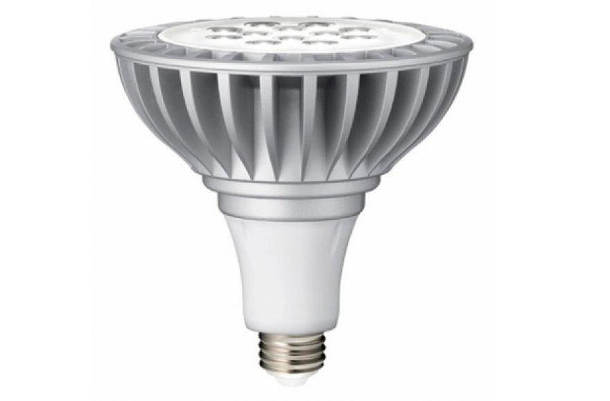 "Lemputė ""PAR38 LED Light Bulb"" be perstojo gali šviesti net 40 tūkst. valandų."