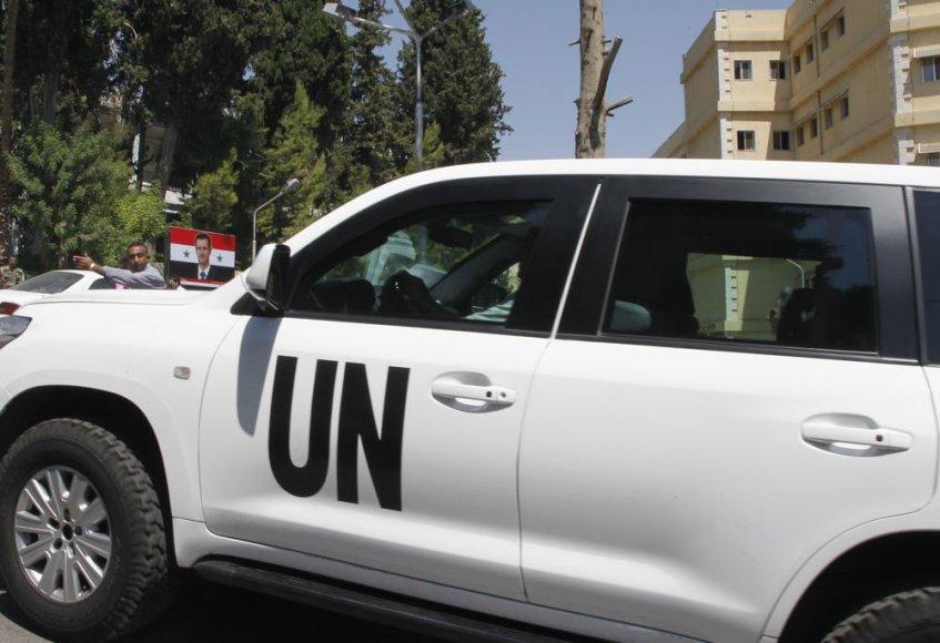 JT ekspertai išvyko iš Sirijos.