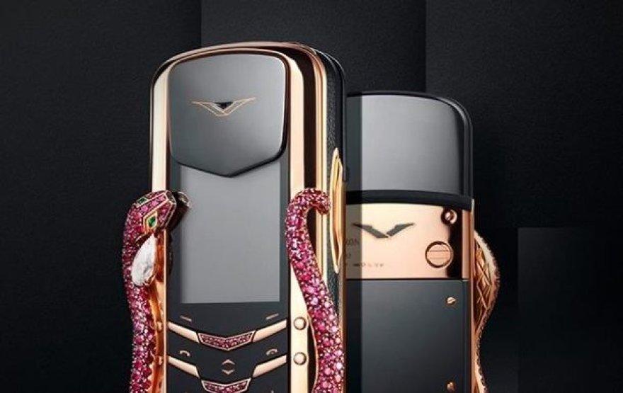 """""""Vertu"""" pristatė naują riboto leidimo kolekciją """"Signature Cobra"""""""