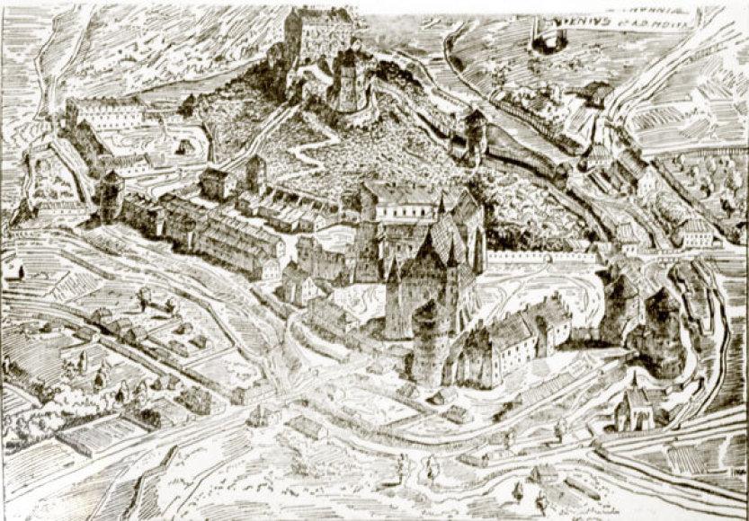 Vilniaus pilių kompleksas pagal Moreliovskį 1530 metais