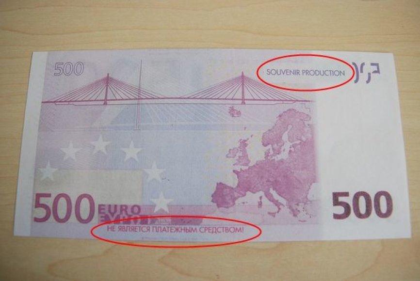 Suvenyrinis 500 eurų banknotas