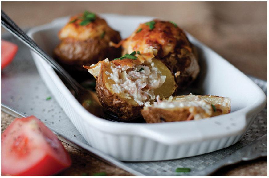 Šonine įdarytos bulvės