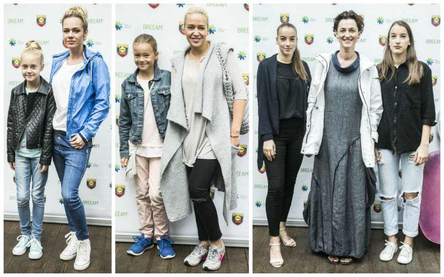 Ingrida Martinkėnaitė, Elena Puidokaitė-Atlanta ir Kristina Savickytė-Damanskienė su dukromis