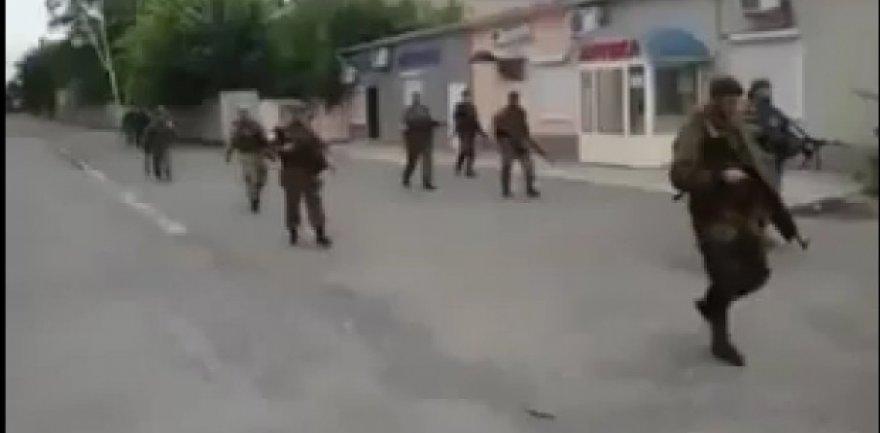 """Internete paviešintas vaizdo įrašas, įrodantis, kad Donbase veikia  """"Kadyrovo vyrai""""."""
