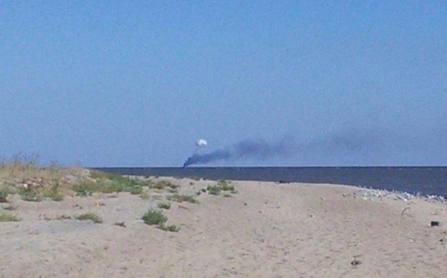 Azovo jūroje apšaudytas pasieniečių laivas.