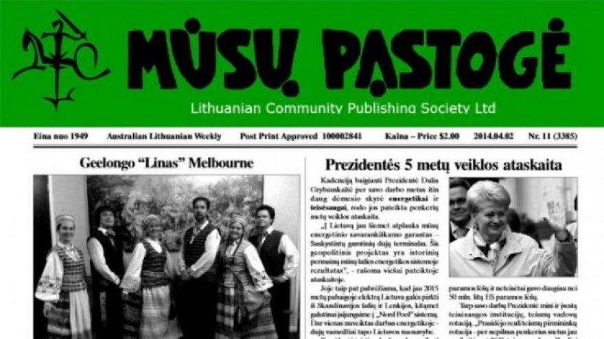 """Australijos lietuvių laikraštis """"Mūsų pastogė"""""""