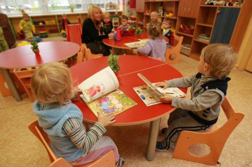 Mažyliai ikimokyklinėse įstaigose nebesušals.