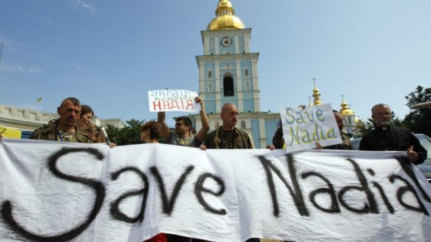 Protestas prieš Nadios Savčenko įkalinimą Voroneže