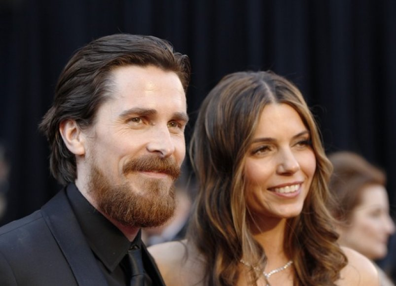 Christianas Bale'as su žmona Sandra Blazic