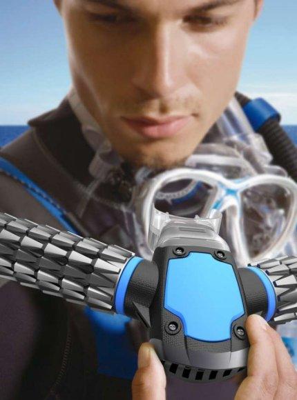 Iš vandens deguonį išgaunanti deguonies kaukė