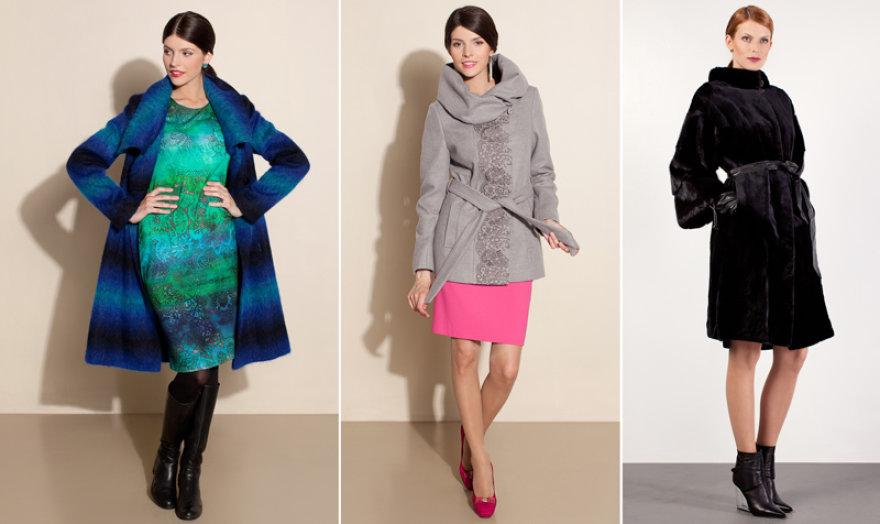"""Iš kairės: """"Mosaic"""" paltai ir """"Ivo Nikkolo"""" paltas"""