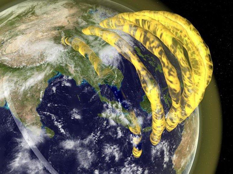 Žemę supančios plazmos struktūros menininko akimis