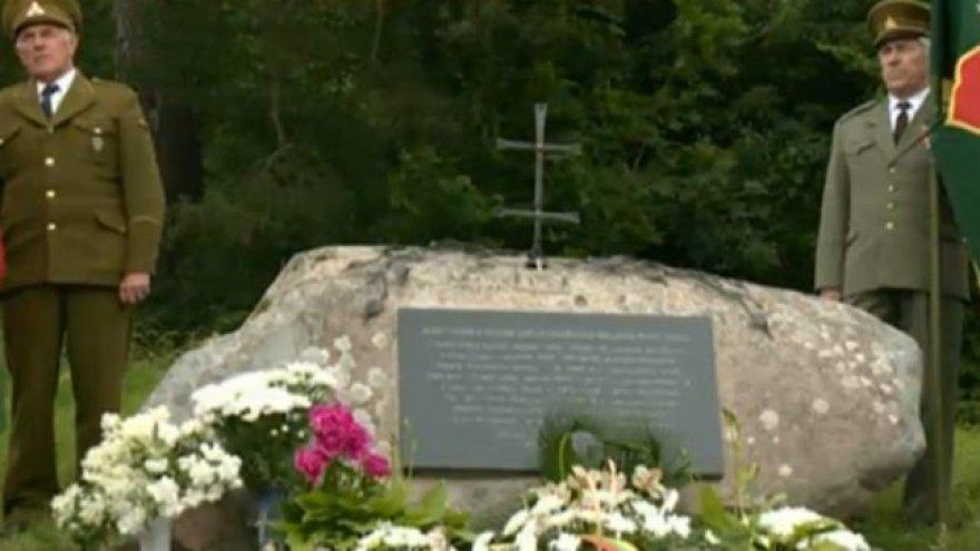 Lazdijų rajone atidengtas paminklas partizanams