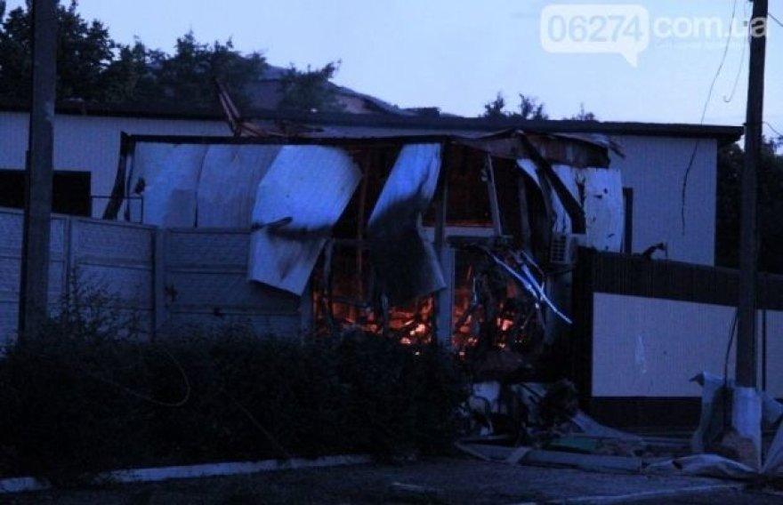 Artemivsko karinė bazė po atakos