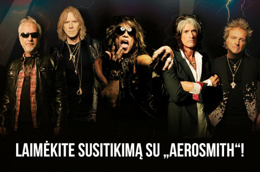 """Laimėkite susitikimą su """"Aerosmith"""""""