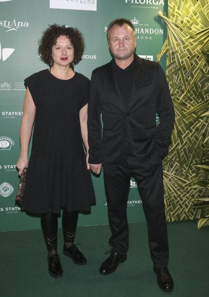 Saulius Urbonavičius-Samas su žmona