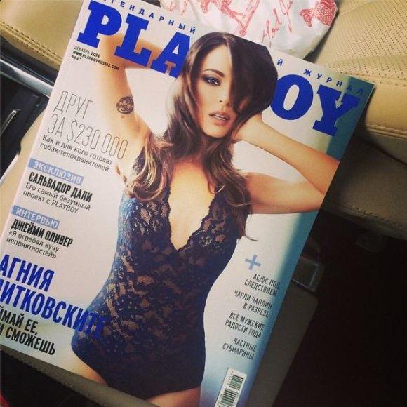 """Agnija Ditkovskytė ant rusiškojo """"Playboy"""" viršelio"""