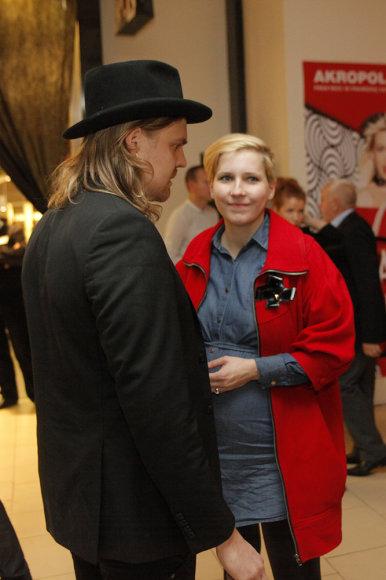 Robertas Kalinkinas su žmona