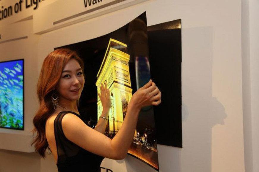 Naujojo LG televizoriaus storis nesiekia nė milimetro