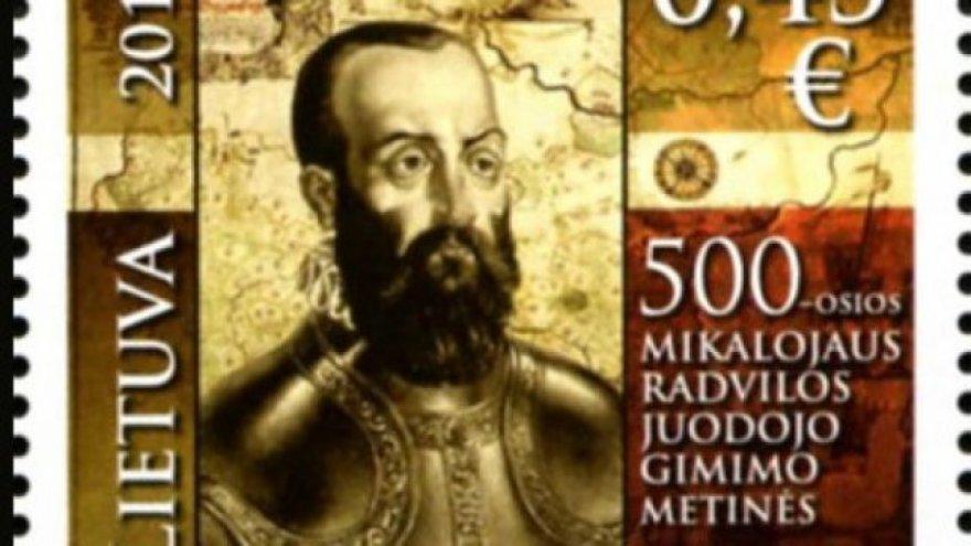 Pašto ženklas M.Radvilai Juodajam