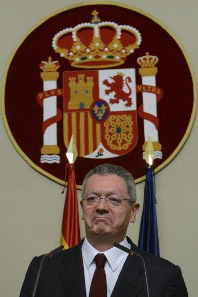 Ispanijos teisingumo ministras Alberto Ruizas Gallardonas