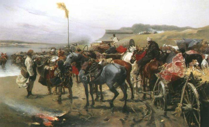 """Jozefo Brandto paveikslas """"Valkininkų mūšis"""""""