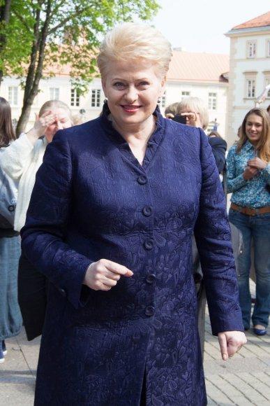 Dalia Grybauskaitė paskelbė Nacionalinės bibliotekų savaitės pradžią.