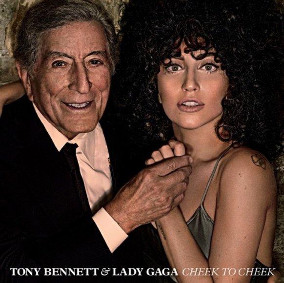 """Lady Gagos ir Tony Bennetto albumo """"Cheek To Cheek"""" viršelis"""