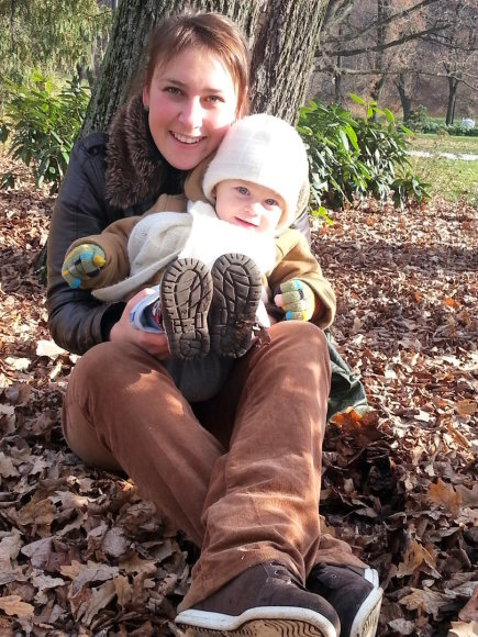 Manta Dargienė su sūnumi