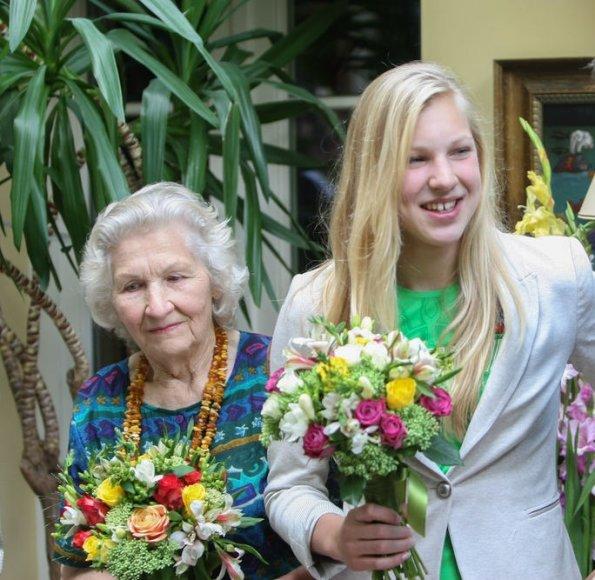 Rūta Meilutytė su močiute Aldona