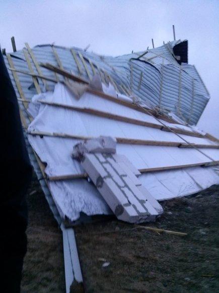 Vėtra praūžė Lazdijų rajone.